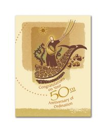 Congratulations on Your 50th Anniversary of Ordination Card