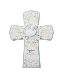 "7"" Blue Baptism Cross"