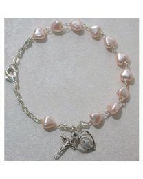 Pink Heart Youth Bracelet