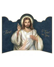 Divine Mercy Triptych Prayer Card
