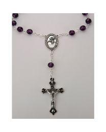 February-Amethyst Auto Rosary