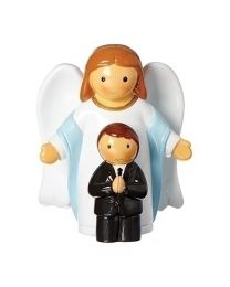 First Communion Angel Boy Mini Statue