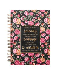 Floral Serenity Prayer Hardcover Wirebound Journal