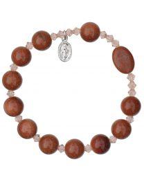 Genuine Gold Stone Rosary Bracelet