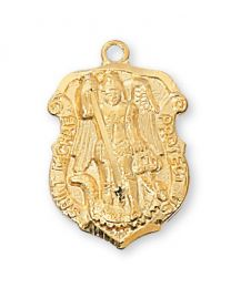 "St. Michael Gold on Sterling Silver Medal on 18"" Chain"