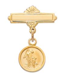 Gold on Sterling Silver Guardian Angel Baby Pin