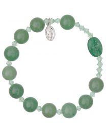 Genuine Green Jade Rosary Bracelet