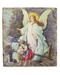 Guardian Angel Tile Plaque