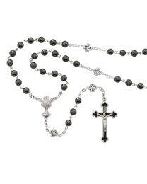 Hematite First Communion Rosary