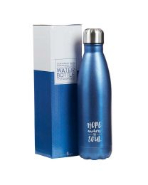 Hope Anchors the Soul, Hebrews 6:19 - Stainless Steel Water Bottle