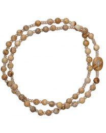 Genuine Jasper Twist Rosary Bracelet