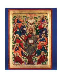 Jesus Tree of Life (Apostles)- Gold Leaf Icon