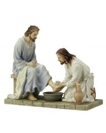 "7.25"" Jesus Washing of the Feet Statue"