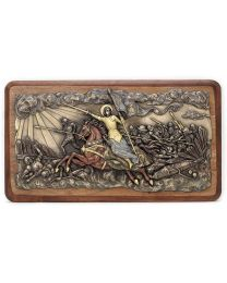 Joan of Arc Leading Wood Plaque