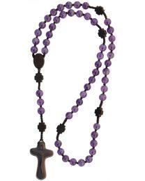 Jujube Wood & Genuine Amethyst Rosary