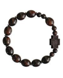 Jujube Wood Oval Rosary Bracelet