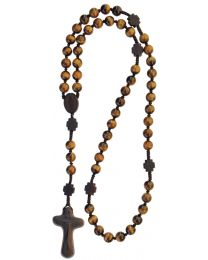 Jujube Wood & Genuine Tigereye Rosary