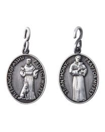 St. Francis & St. Anthony Pet Medal