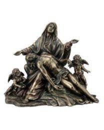 La Pieta with Cherubs Angels