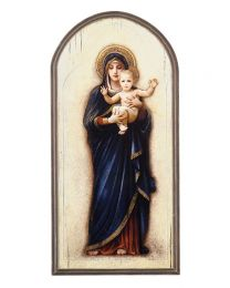 Madonna and Child Arched Plaque