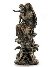 """13"""" Madonna Of The Harpies - Bronze Style Statue"""