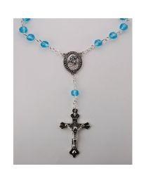 March-Aqua Auto Rosary