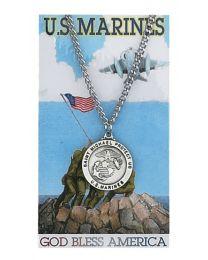 Marine Prayer Card with Medal