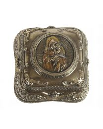 Blessed Mother with Baby Jesus Rosary Box