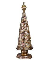 Metallic Nativity Christmas Tree Ornament