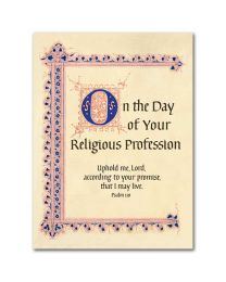 On the Day of Your Religious Profession