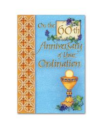 Ordination Anniversary Card, 60th