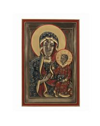 "9.3"" Our Lady of Czestochowa - Bronze Style Plaque"