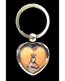 Our Lady of the Angels Heart Shaped Keychain