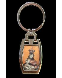 Our Lady of the Angels Rectangular Keychain