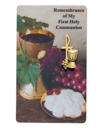 Gold/Pewter First Communion Pin