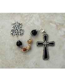 Jasper & Black Onyx Handmade Rosary