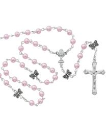 Pink & Pearl First Communion Rosary