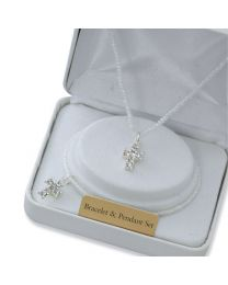 Pearl Pendant/Bracelet First Communion Set