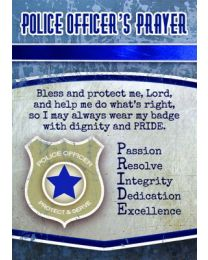 Police Prayer Card