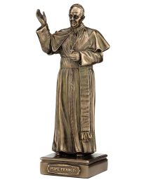 "6.3"" Pope Francis - Bronze Style Statue"