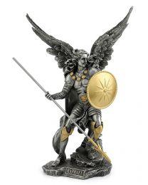 "13.4"" Archangel Raphael - Pewter & Gold Statue"