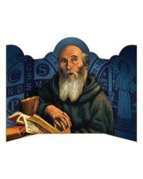 Saint Benedict Triptych Prayer Card