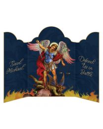 Saint Michael Triptych Prayer Card