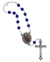 Sapphire Our Lady of Knots Auto Rosary