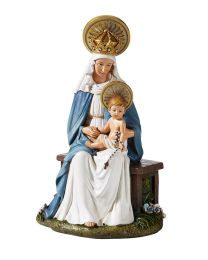 "6.5"" Seated Madonna and Child Statue"