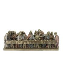 "9""x 3"" The Last Supper - Bronze Style Statue"