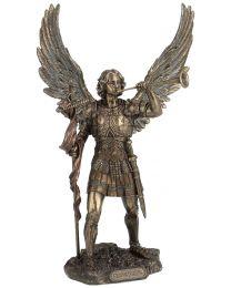 """13"""" St. Gabriel - Bronze Style Statue"""