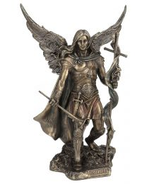 "9.25"" St. Gabriel with Trumpet - Bronze Style Statue"