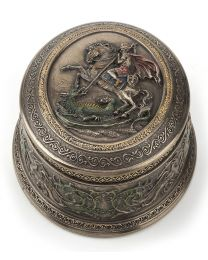 St. George Slaying Dragon Rosary Box