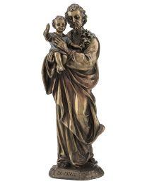 St. Joseph with Baby Jesus - Bronze Style